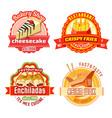 fast food restaurant and bakery shop label design