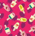 Fruit ice-creams pattern vector image vector image