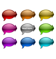 glassy speech bubble with arrows vector image vector image