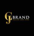 global financial business logo letter cj vector image