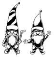 gnomes line art vector image