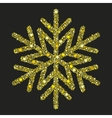 Golden snowflake from Christmas decoration vector image vector image