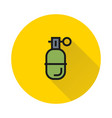 grenade in line style on white background vector image vector image