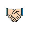 handshake partnership teamwork vector image