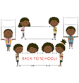 Happy African-American cute children vector image