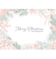 holiday postcard template with merry christmas vector image vector image