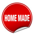 home made round red sticker isolated on white vector image vector image