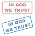 in god we trust textile stamps vector image vector image