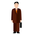 isolated businessman avatar vector image vector image