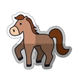 isolated horse cartoon vector image