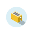 isometric yellow toaster kitchen equipment icon vector image vector image
