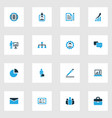 job colorful icons set collection of manager vector image vector image