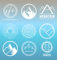 mountain logos and emblems vector image vector image