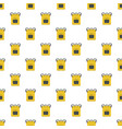 notebook backpack pattern seamless vector image vector image