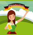 oktoberfest celebration festival vector image