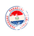 paraguay sign vintage grunge imprint with flag on vector image vector image