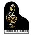 Piano-musical instrument vector image vector image