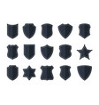 police badge shape vector image