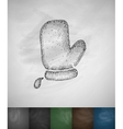 potholder icon Hand drawn vector image vector image