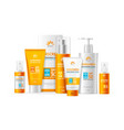 realistic detailed 3d sunscreen moisturizer lotion vector image