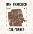 san francisco streets t shirt design with city map vector image vector image