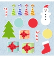 set christmas stickers vector image vector image
