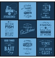 Set of vintage fishing typographic quotes vector image