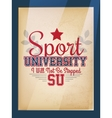 Sport Varsity Poster vector image vector image