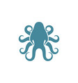 squid logo design vector image vector image