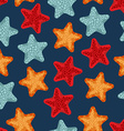 Starfish seamless pattern background of deep-sea vector image vector image