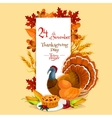 thanksgiving day invitation card template vector image vector image