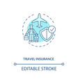 travel insurance concept icon vector image vector image