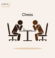 two chess playing chess vector image