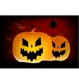 Two helloween pumpkins head isolated on vector image