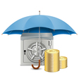 Umbrella and Safe vector image vector image