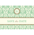 vector green date background vector image vector image