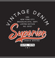 vintage denim typography graphics for t-shirt vector image vector image