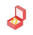 Wedding diamond ring in a box vector image vector image