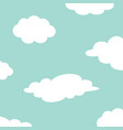 white cloud set on the sky fluffy clouds cute vector image vector image