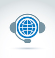 World on the air call center information vector image vector image