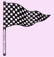 checkered flag vector image