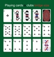 Playing cards Clubs Bridge size vector image