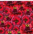 seamless colorful pattern with red flowers vector image