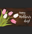 greeting card with tulip flowers vector image