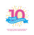 10 years anniversary logo badge colorful birthday