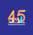 45 years anniversary celebration logotype vector image vector image