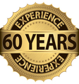 60 years experience golden label with ribbon