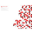 abstract red cube geometric hexagonal low vector image vector image