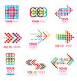 abstract symbol arror 3 vector image vector image