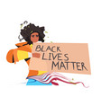 african american woman holding black lives matter vector image